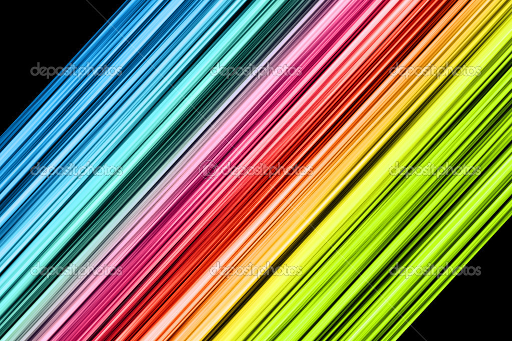 Rainbow colorful abstract lines on black background — Stock Photo #6874427