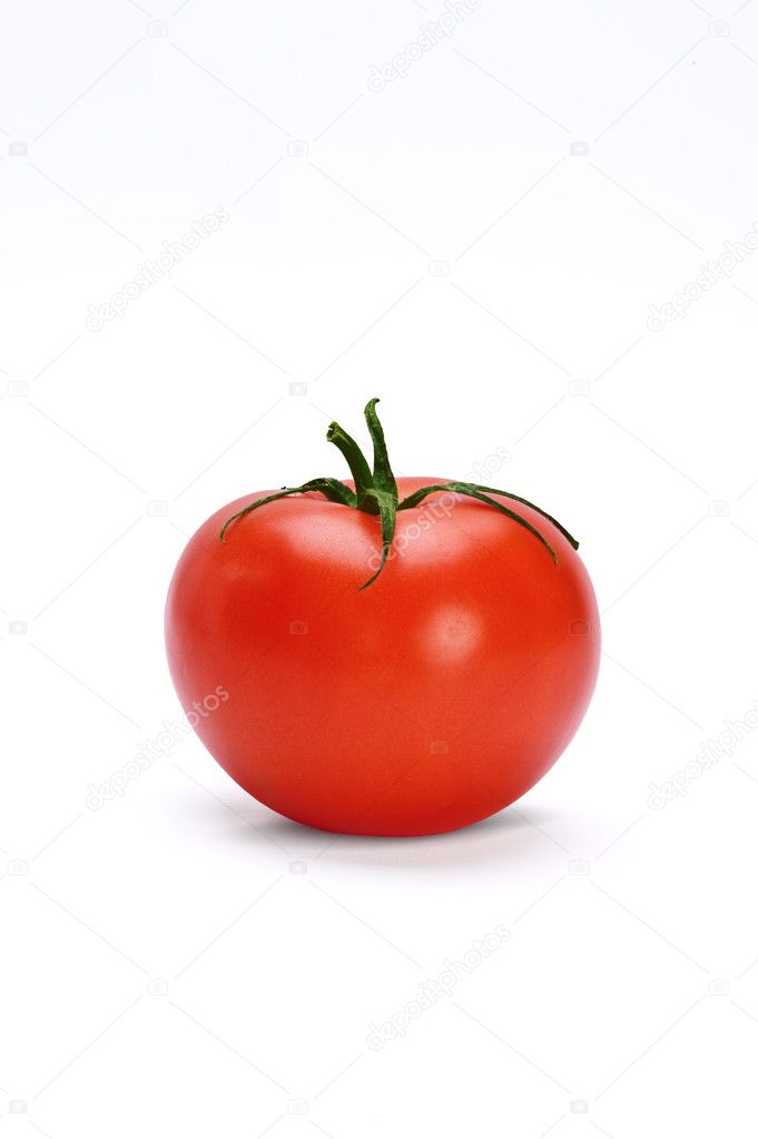 Fresh tomatoe isolated over white background — Stock Photo #6874704