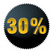 Thirty percent — Image vectorielle