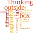 Thinking outside the box - Stock Vector