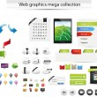 Large web graphic collection — Stockvektor