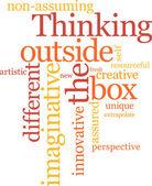 Pensando fuera de la caja — Vector de stock