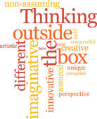 Pensare fuori della scatola — Vettoriale Stock
