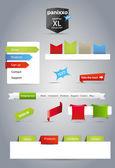 Mixed web graphics — Stock Vector
