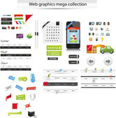 Stora webb grafisk samling — Stockvektor
