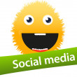 Social media icon — Stock Vector