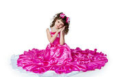 The girl in a beautiful dress — Stock Photo