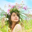 The girl on a meadow — Stock Photo #7238022