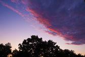 Wolken sonnenuntergang malen mit farben — Stockfoto