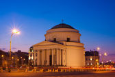 Three Crosses Plaza in Warsaw in the evening — Stock Photo