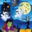 Scene with Halloween theme 2 - Stock Vector