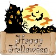 Thema mit happy Halloween Banner 1 — Stockvektor  #6775558