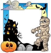 Telaio con tema halloween 3 — Vettoriale Stock