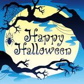 Happy Halloween theme with Moon 3 — Stock Vector