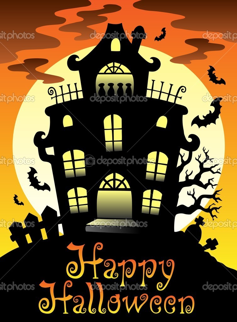 Happy Halloween theme with Moon 2 - vector illustration. — Stock Vector #6775536
