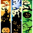 Halloween banners set 5 — Stock Vector