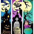 Halloween banners set 6 — Stock Vector