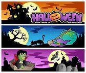 Halloween banners set 3 — Stock Vector