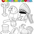 Royalty-Free Stock Vector Image: Coloring book American theme images