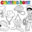 Stock Vector: coloring book country collection
