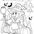 Coloring book Halloween character 4 - Stock Vector