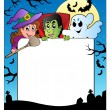 Royalty-Free Stock Vector Image: Frame with Halloween characters 2