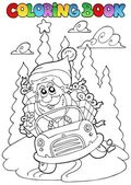Coloring book Christmas topic 5 — Stock Vector