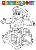 Coloring book Christmas topic 7 — Stock Vector