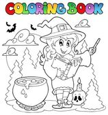 Coloring book Halloween character 2 — Stock Vector