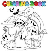 Coloring book Halloween character 3 — Stock Vector