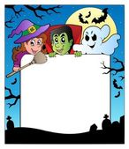 Frame with Halloween characters 2 — Stock Vector