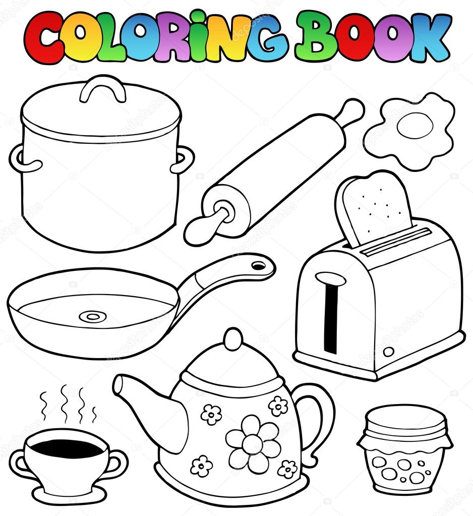 Colouring pages kitchen - Color Kitchen Free Coloring Pages For Preschooler And