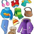 Winter apparel collection 1 — Stock Vector