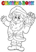 Coloring book Santa Claus topic 1 — Stock Vector