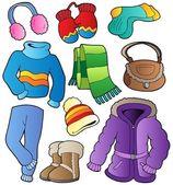 Winter apparel collection 1 — Stock Vector