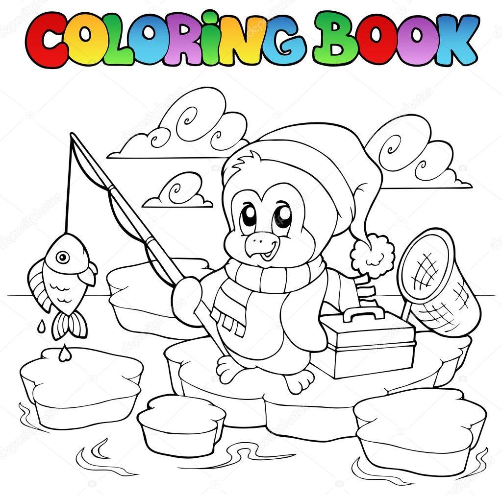 раскраска для детей про рыбалку