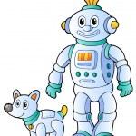 Cartoon retro robot 2 — Stock Vector #7443542