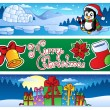 Stock Vector: Christmas banners collection 2