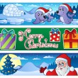 Christmas banners collection 3 — Stock Vector