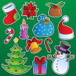 Vector de stock : Christmas season theme 1