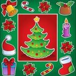 Christmas theme greeting card 1 — Stock Vector