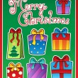 Christmas theme greeting card 2 — Stock Vector