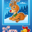 Royalty-Free Stock Vektorgrafik: Christmas theme greeting card 3