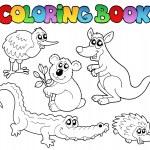 Coloring book Australian animals 1 — Stock Vector #7444067