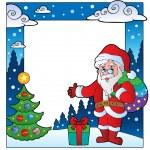 Christmas theme frame 2 — Stock Vector