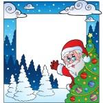 Christmas theme frame 4 — Stock Vector