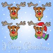 Royalty-Free Stock Vector Image: Christmas theme greeting card 6