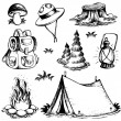 Outdoor theme drawings collection — Stock Vector