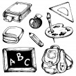 School drawings collection 1 — Stock Vector