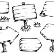 Wooden boards drawings collection - 